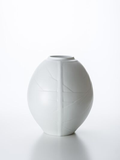 Peter Mark Hamann, 'Three-Face White Porcelain Vase with Winter Branch Pattern', 2018