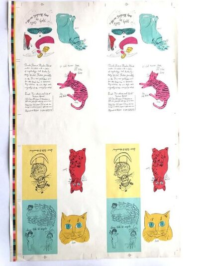 Andy Warhol, '25 Cats Named Sam & Holy Cats', 1992