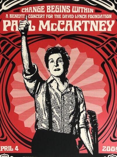 "Shepard Fairey, '""Paul McCartney NYC Change Begins Within""', 2009"