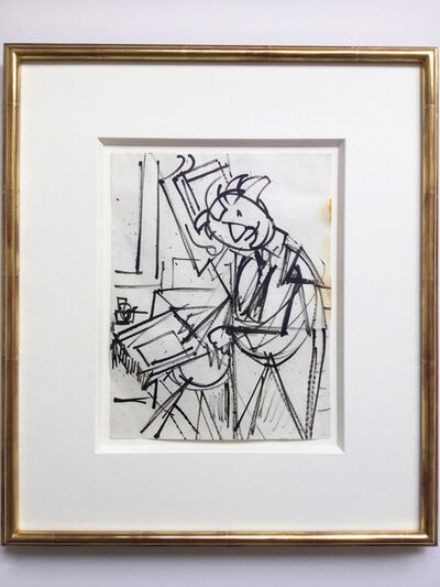 Hans Hofmann, 'Untitled (Self-Portrait at the Easel)', ca. 1942