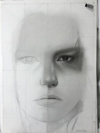 Dirk Dzimirsky, 'Unfinished Drawing Demonstration #6', 2015
