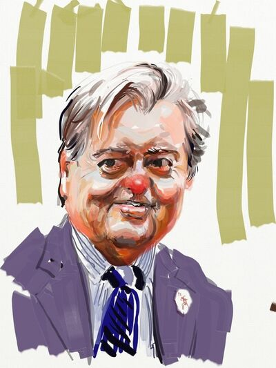 Eric Fischl, 'Bannon with Green Stripes', 2017