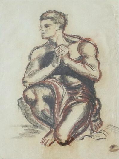 James Gleeson, '(Kneeling Nude – Study)', ca. 1945
