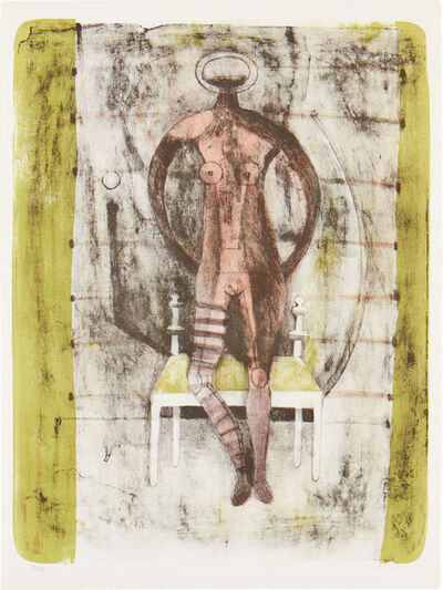 Rufino Tamayo, 'Mujer con Medias Malva (Woman with Mauve Stockings), from Mujeres (Women) (P. 115)', 1969