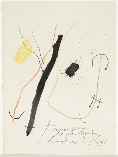 Joan Miró, 'Quelques Fleurs pour des Amis: Dypréau (#9)', 1964