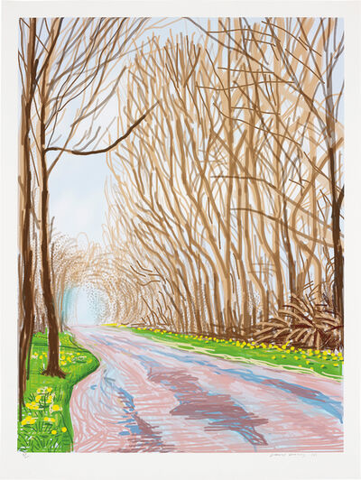 David Hockney, '1 April, from The Arrival of Spring in Woldgate, East Yorkshire in 2011 (twenty eleven)', 2011