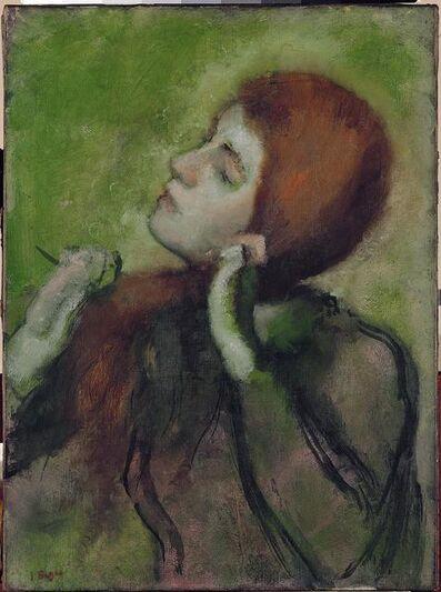 Edgar Degas, 'Woman Brushing Her Hair', ca. 1894