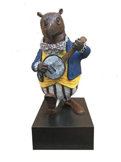 Bjorn Skaarup, 'Rhino Banjo Player', 2020