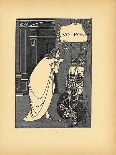 Aubrey Beardsley, 'Frontispiece from Volpone by Ben Jonson, printed in A Second Book of Fifty Drawings, by Aubrey Beardsley', ca. 1899