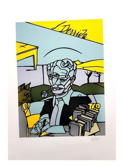 """Valerio Adami, 'Original Lithograph """"Portrait of Jacques Derrida"""" by Valerio Adami', 2014"""