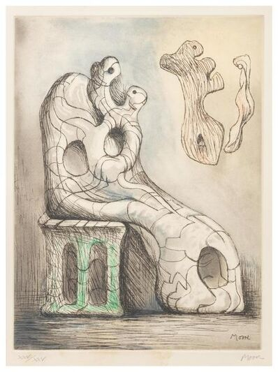 Henry Moore, 'Seated Mother and Child', 1981