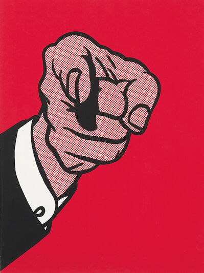 Roy Lichtenstein, 'Finger Pointing, from The New York Collection for Stockholm', 1973