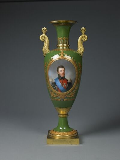 "Sèvres Porcelain Manufactory, 'A ROYAL SÈVRES ""VASE FUSEAU"" FEATURING  THE DUKE OF ANGOULÊME', 1825"