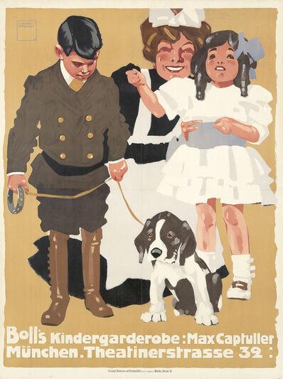 Ludwig Hohlwein, 'Boll's Kindergarderobe.', 1908