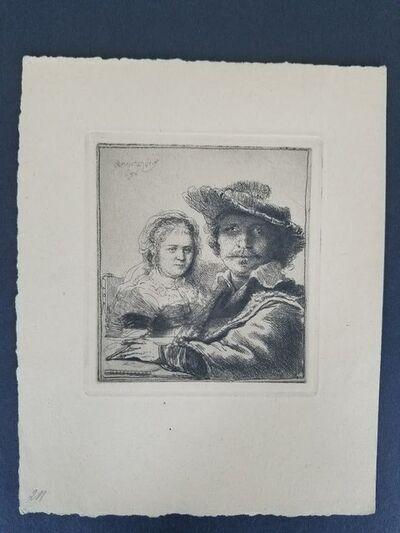 Rembrandt van Rijn, 'Self portrait with Saskia', 1634