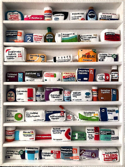 Lucy Sparrow, 'Pill Cabinet (53 objects)', 2018