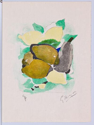 Georges Braque, 'Lettera Amorosa, Les Citrons, Page 12', 1963