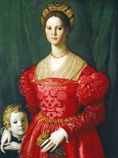 Agnolo Bronzino, 'A Young Woman and Her Little Boy', ca. 1540
