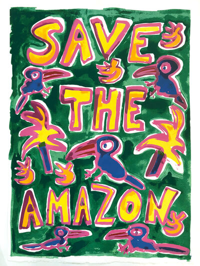Katherine Bernhardt, 'Save The Amazon (Green)', 2019