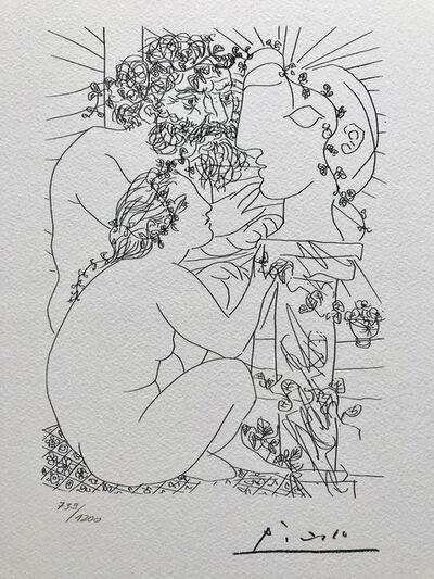 Pablo Picasso, 'Sculpteur avec son modèle, sa sculpture et un bol d'anémônes (Suite Vollard Planche XXXIX)', 1973