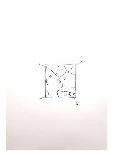 "Jean Cocteau, 'Original Lithograph ""Sun"" by Jean Cocteau', 1958"