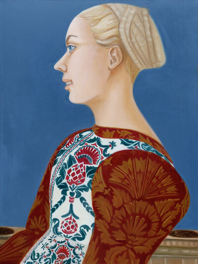 Lois Baron, 'Self-Portrait as young woman by A. Pollaiuolo', 2020