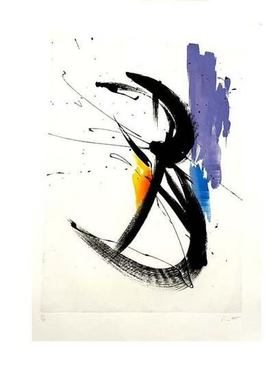 Jean Miotte, 'Jean Miotte - Abstract Composition - Original Signed Lithograph', 1990
