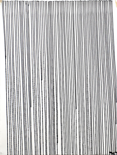 Ian Davenport, 'Black Lines on white paper', 1996