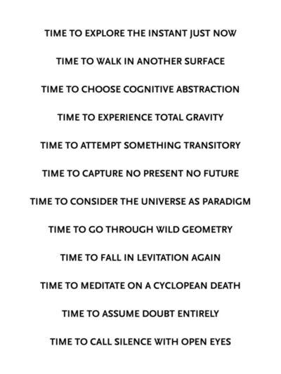 Marco Godinho, 'Time to (...)', 2014