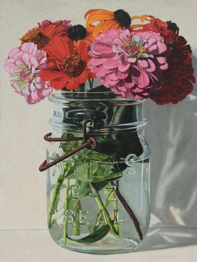 Peggie Blizard, 'Zinnias in a Jar'