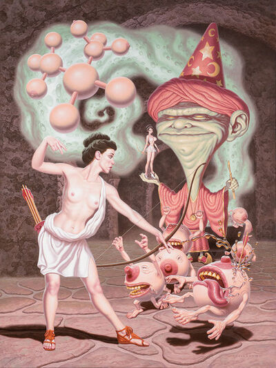 Todd Schorr, 'Diana Battles the Wizard of Irrational Aesthetics', 2014