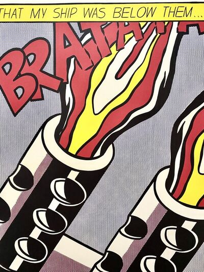 Roy Lichtenstein, 'As I opened Fire, Triptych by Roy Lichtenstein, Original Museum Lithograph, 1980', 1980