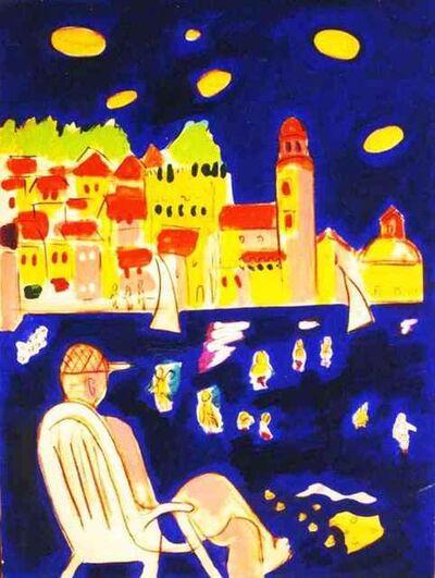 Wayne Ensrud, 'Beach View of Collioure, France', 1996-1997