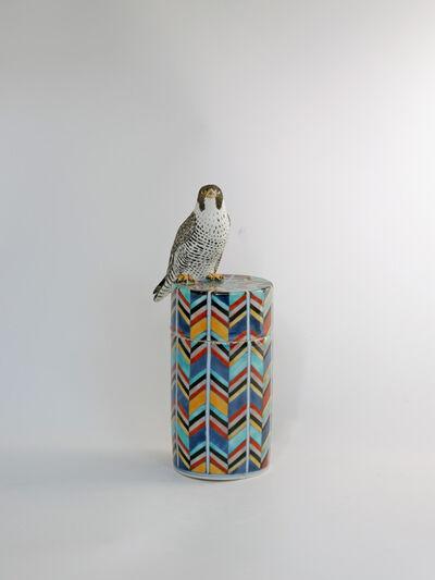 Kensuke Fujiyoshi, 'Falcon and Sidra Tree circular box', 2021