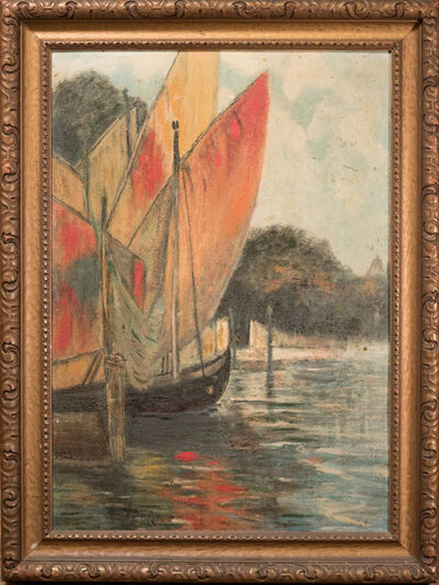 Charles L.A. Smith, 'California Harbor, Sailboats', 1922