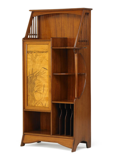 Louis Majorelle, 'Cabinet with cattails and flowers', ca. 1900
