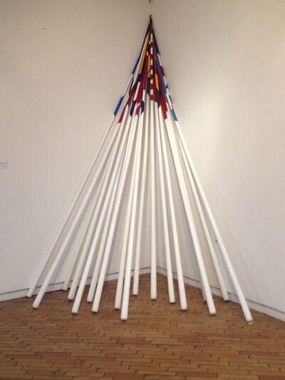 Colectivo Maski, 'Movimiento armónico simple (Astas)', 2015