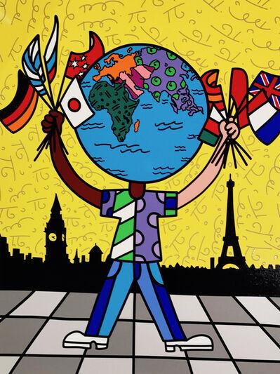 Romero Britto, 'Globe Generation Series – Eurasia', 2015