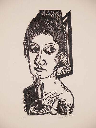 Max Beckmann, 'Frau mit Kerze (Woman with Candle)', 1920