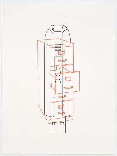 Michael Craig-Martin, 'Filing cabinet / Memory stick', 2017