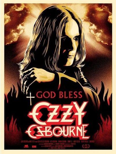 Shepard Fairey, 'God bless Ozzy Osbourne', 2011