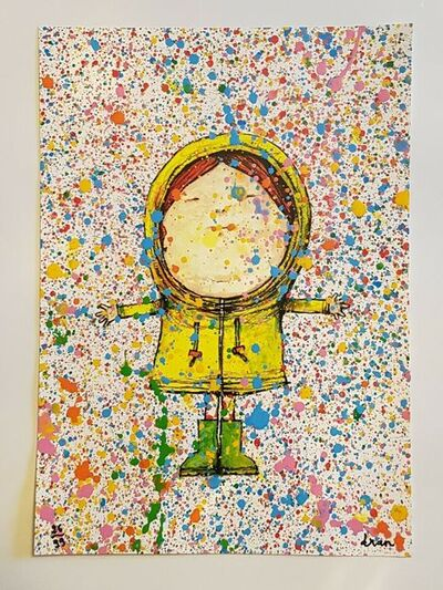 "dran, ' DRAN ""PLUIE DE COULEURS"" MULTICOLURED PRINT HAND SIGNED & NUMBERED BY ARTSIT ', 2018"