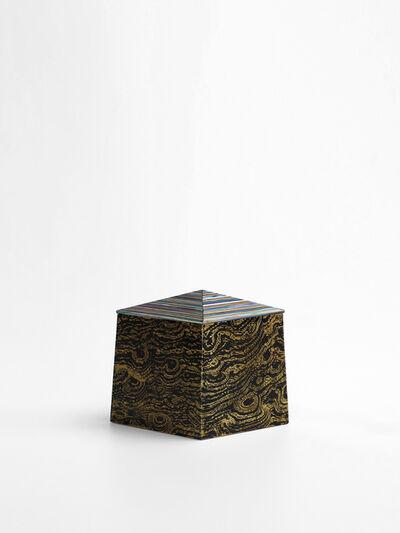 Shinya Yamamura, 'Gold lepidoptera diamond shape small box', 2019