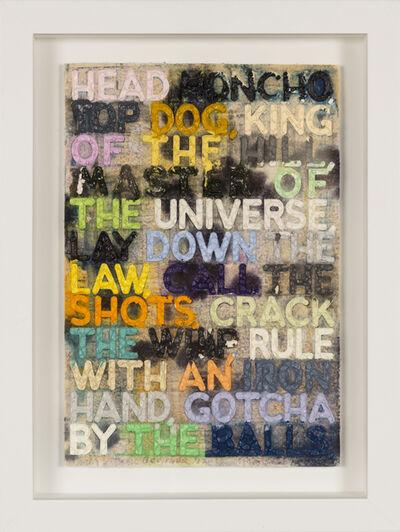 Mel Bochner, 'Head Honcho', 2012