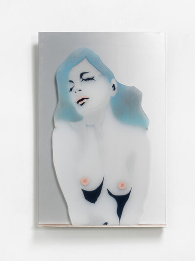 Evelyne Axell, 'Buste de femme aux yeux fermés (self portrait)', 1969