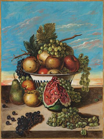 Giorgio de Chirico, 'Natura morta di frutta', mid 60's