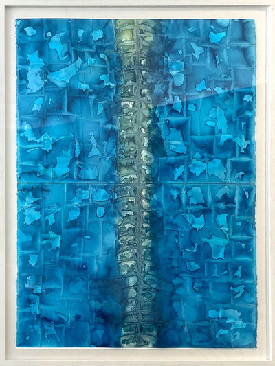 Nathan Slate Joseph, 'BLUE ABSTRACT LUSTER WALL ', 2015