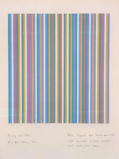 Bridget Riley, 'Study For Fete', 1982
