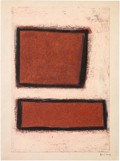 Mira Schendel, 'Untitled (Two red forms)', ca. 1960