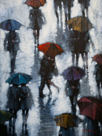 David Hinchliffe, 'Umbrella and a Kiss', 2020